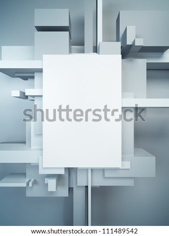 abstract art composition, 3d render - stock photo
