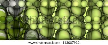 Abstract Art - Impressionism - Microscope Life - stock photo