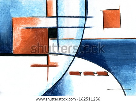Abstract Art Painting - stock photo