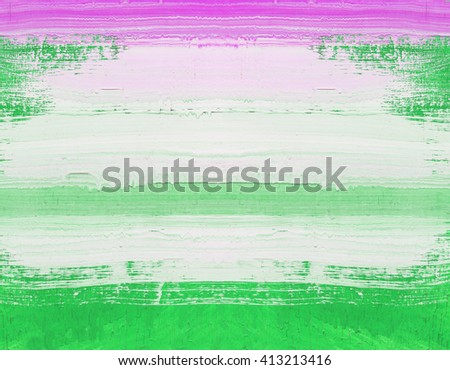 Abstract art painting ,Hand painted green and white on wood - stock photo