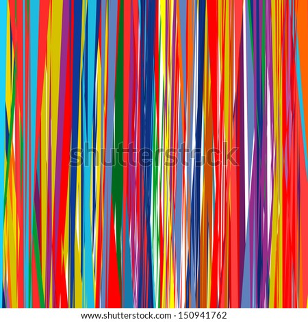 Abstract art rainbow curved lines color background 7 - stock photo