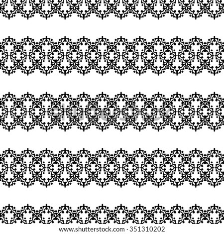 Abstract Art seamless pattern with bright tribal ornament