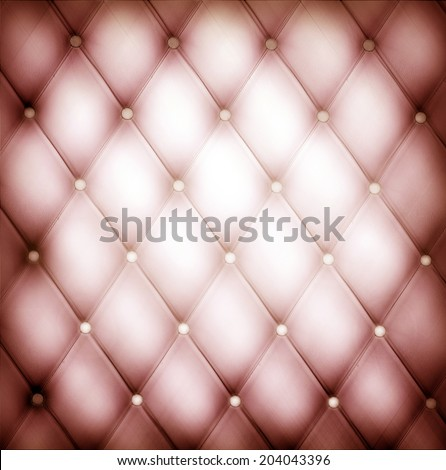 Abstract art skin background texture of an old natural luxury modern style leather with rhombs Classic light red and dark lilac grungy decor retro wall, door, sofa, studio interior with metal buttons - stock photo