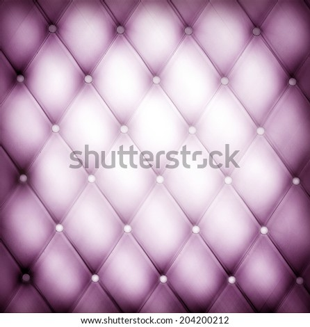Abstract art used skin background texture of old natural luxury modern style rhombs leather Classic light lilac and dark purple grungy decor retro wall, door, sofa, studio interior with metal buttons - stock photo