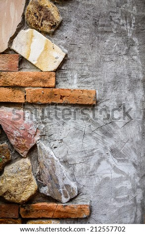 Abstract art wall background. - stock photo