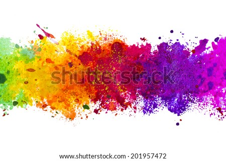 Abstract artistic watercolor splash background - stock photo