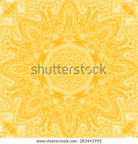 Abstract artistic yellow background for design - stock photo