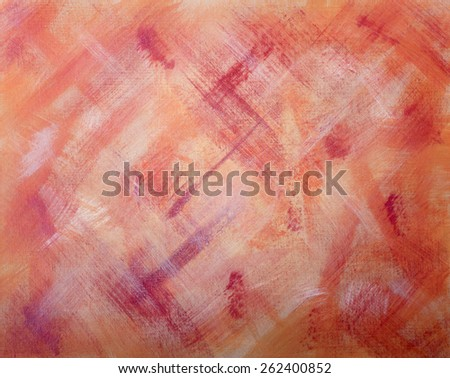 Abstract Artwork on Canvas with Red and Orange Hues - stock photo