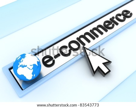 abstract assress line, E-commerce (done in 3d) - stock photo
