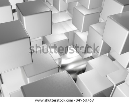 Abstract background - a lot of grey cubes.
