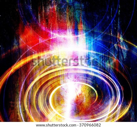 Abstract background and color circle effect, color background