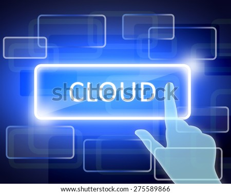 abstract background and the words cloud in rectangle.