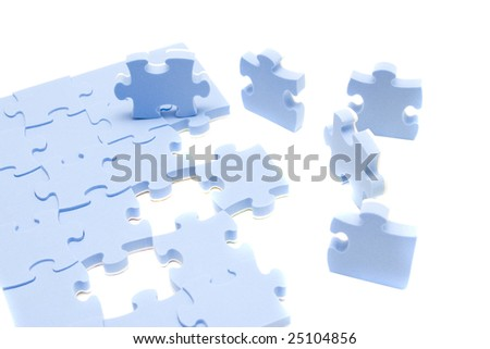 abstract background blue element puzzle