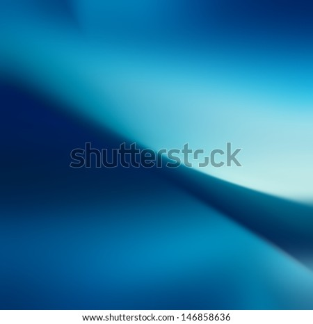 Abstract Background, blue smooth wave template - stock photo