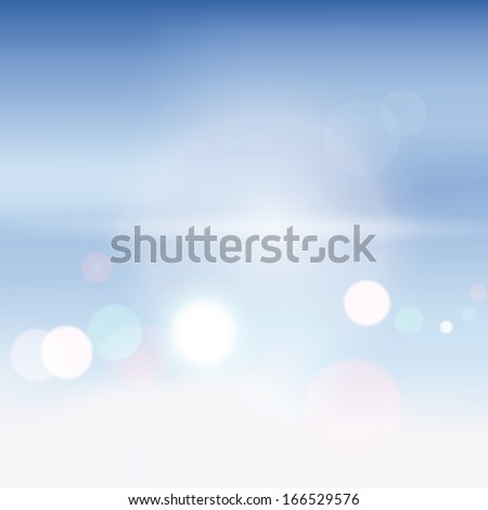Abstract background blurry lights. Vector illustration. - stock photo