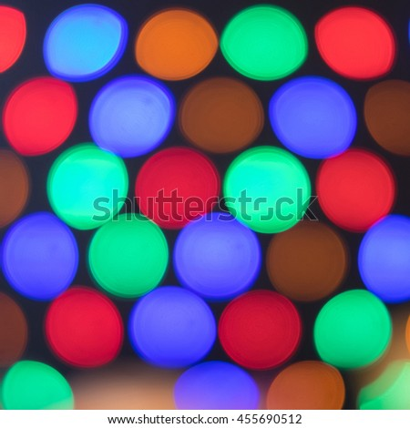 abstract background bokeh circles, square frame. - stock photo