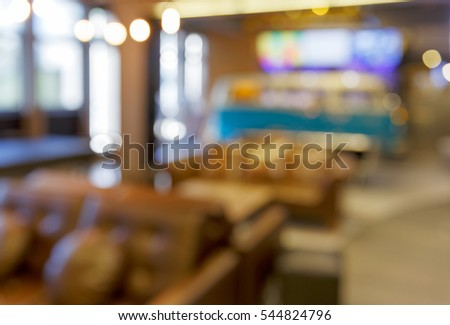 Abstract Background bokeh in Lobby Interior office blured, shallow depth of focus.