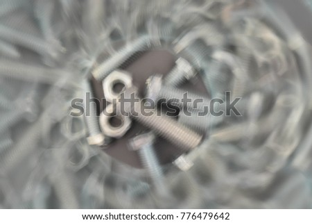 Abstract background, bolts and nuts