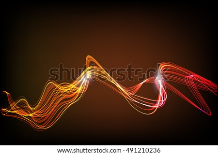 abstract background bright curve lines