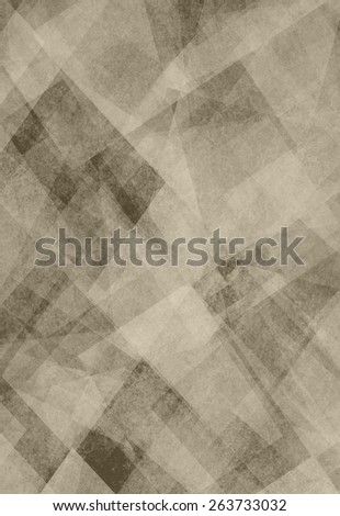 abstract background brown and black square and diamond shaped transparent layers in angles and shapes pattern background - stock photo