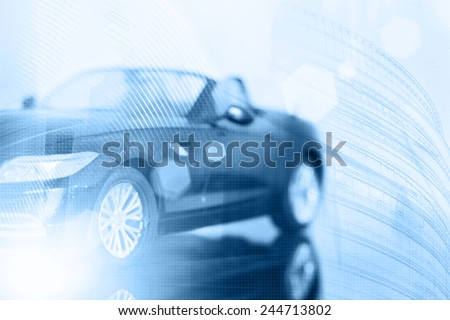 Abstract background. Car insurance concept - stock photo