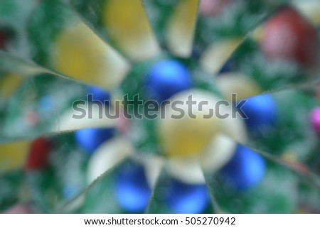 Abstract background, Christmas tree decoration, Happy New Year