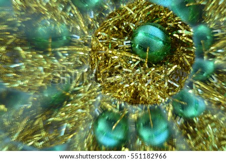 Abstract background, Christmas tree decoration, New Year
