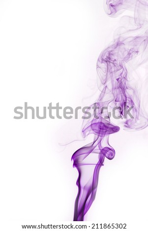 abstract background, colorful smoke of Joss stick - stock photo