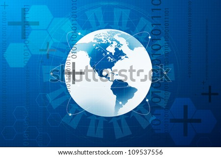 Abstract background, concept of world