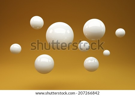 abstract background consisting of circles - stock photo