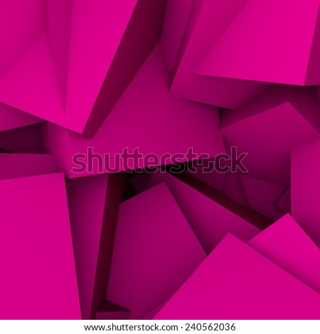abstract background consisting of purple geometric shapes - stock photo