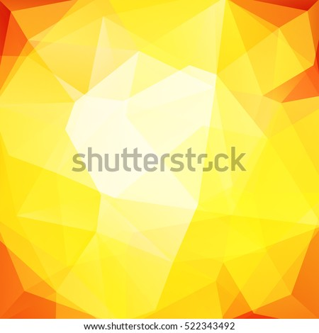 Abstract background consisting of triangles. Geometric design for business presentations or web template banner flyer. Yellow, orange colors.