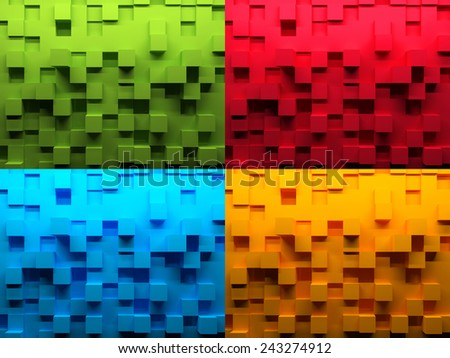Abstract background, 3d render illustration - stock photo