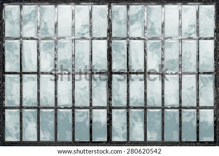 Abstract background 3d, seamless window, glass, metal, mosaic. Tool for designers or idea for interior exterior wall, floor or Background for studio photography. illustration. - stock photo