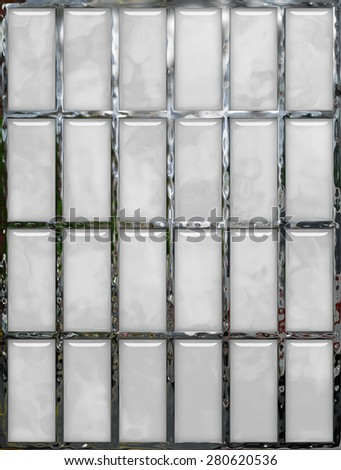 Abstract background 3d, window, glass, metal, mosaic. Tool for designers or idea for interior exterior wall, floor or Background for studio photography. Hand digital painting, illustration. - stock photo