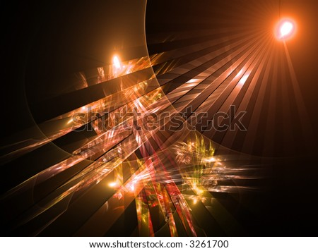 Abstract background design. Fantastic sun rise. Part 38