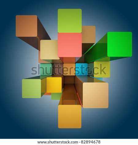 Abstract background design from cubes