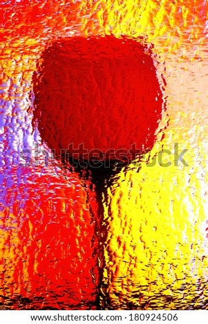 Abstract background design made from an empty wine glass .