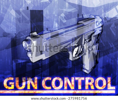 How to write an abstract for a research paper based on gun control?