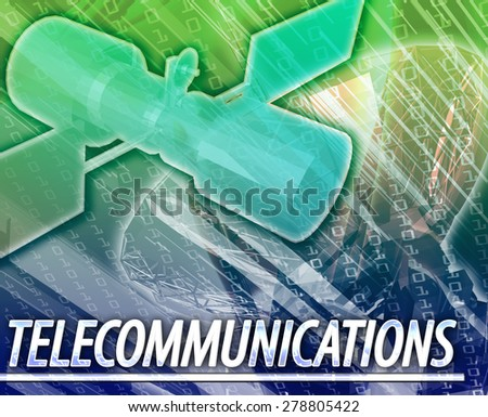 Abstract background digital collage concept illustration telecommunications technology - stock photo