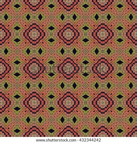 Abstract background endless pattern made from sarong pattern.