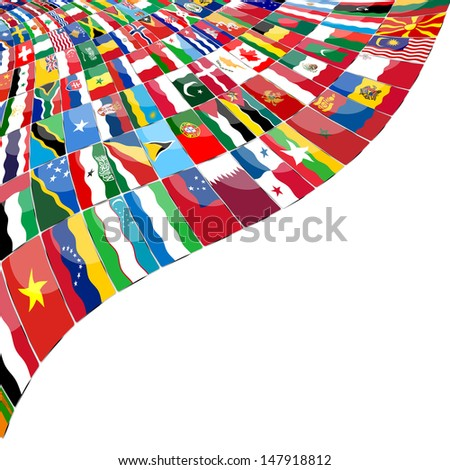 Abstract background  Flags of the WOLD - stock photo