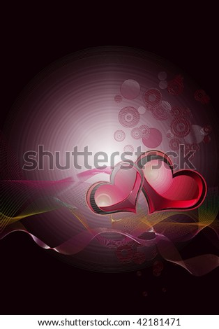 Abstract background for Valentine's Day greeting cards.