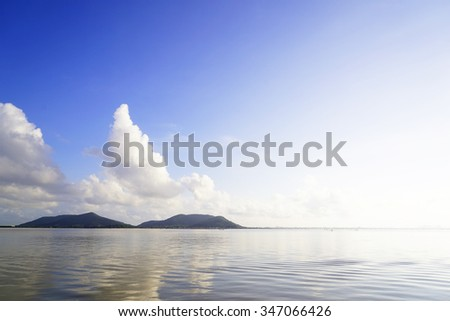 Abstract background from blurry sky image in the morning at Lake:select focus with shallow depth of field:ideal use for background.