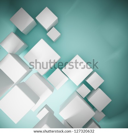 Abstract background from cubes - stock photo