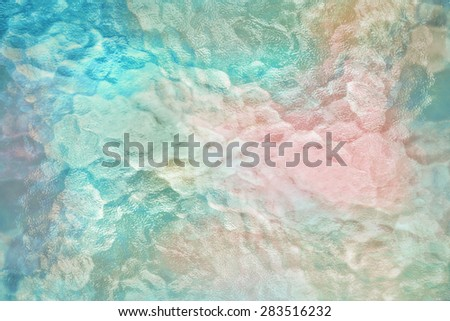 Abstract background from frosted glass texture (Ocean Blue , Mint green and Soft Pink) - stock photo