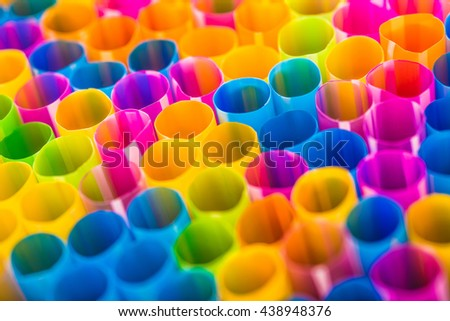 Abstract background from many multi-color tube