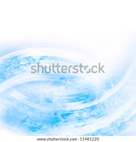 Abstract background from pieces of melting ice