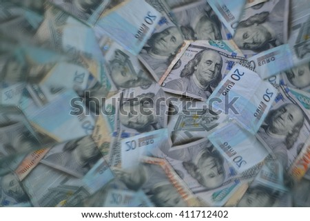 abstract background from the money
