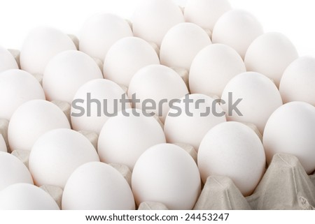 Abstract background from white eggs. Close up.